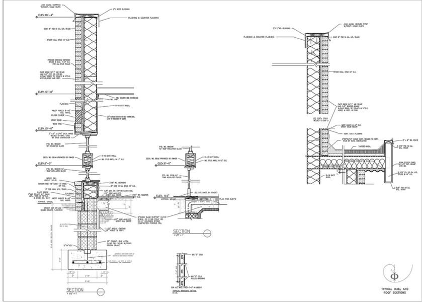 DIGITAL ARCHITECTURAL PORTFOLIO - AutoCad - Construction Documents